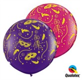 Masquerade 3ft Latex Balloons 2pk