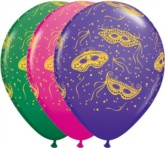 "Masquerade 11"" Latex Balloons 25pk"