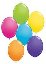 """12"""" Tropical Asst Quick Link Latex Balloons 50pk"""