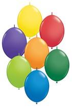 """12"""" Carnival Asst Quick Link Latex Balloons 50pk"""