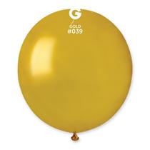 "Gemar Metallic Gold 19"" Latex Balloons 10pk"