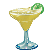 """Margarita Cocktail Glass With Lime 36"""" Foil Balloon"""