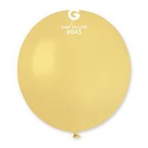 "Gemar Standard Mustard 19"" Latex Balloons 10pk"