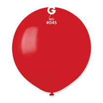 """Gemar Standard Red 19"""" Latex Balloons 10pk"""