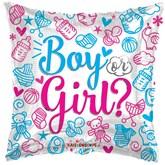 "Gender Reveal 18"" Square Foil Balloon"