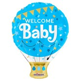 "Welcome Baby Blue 18"" Hot Air Foil Balloon"