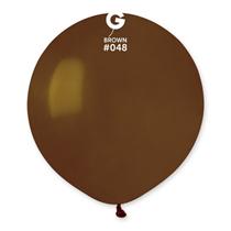 "Gemar Standard Brown 19"" Latex Balloons 10pk"