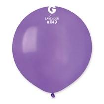 "Gemar Standard Lavender 19"" Latex Balloons 10pk"
