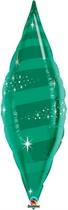 "Emerald Green 38"" Foil Taper Swirl"