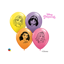 "Disney Princess 5"" Assorted Latex Balloons 100pk"