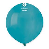 "Gemar Standard Turquoise 19"" Latex Balloons 10pk"