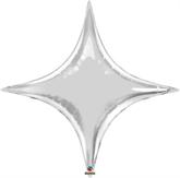 """Silver 40"""" Starpoint Foil Balloon"""