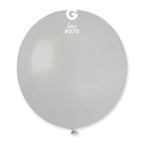 "Gemar Standard Grey 19"" Latex Balloons 10pk"