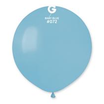 "Gemar Standard Baby Blue 19"" Latex Balloons 10pk"