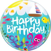 "Under The Sea Happy Birthday 22"" Bubble Balloon"
