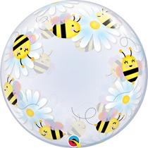 "Sweet Bees & Daisies 24"" Bubble Balloon"