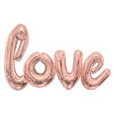 """Giant Rose Gold Love Script 84"""" x 53"""" Foil Balloons"""