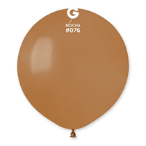 "Gemar Standard Mocha 19"" Latex Balloons 10pk"