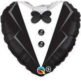 "18"" Heart Shaped Groom Foil Balloon"