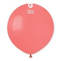"Gemar Standard Corallo 19"" Latex Balloons 10pk"