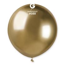 "Gemar Shiny Gold 1.5ft (19"") Latex Balloons 25pk"