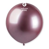 "Gemar Shiny Pink 1.5ft (19"") Latex Balloons 25pk"