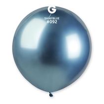 "Gemar Shiny Blue 1.5ft (19"") Latex Balloons 25pk"