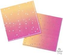 Rose Gold Ombre Foil Accent 3-Ply Napkins 16pk