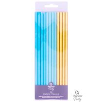 Blue & Gold Paper Straws 24pk