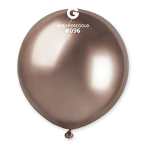 "Gemar Shiny Rose Gold 1.5ft (19"") Latex Balloons 25pk"