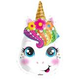 """Cute Unicorn Head 18"""" Foil Balloon"""