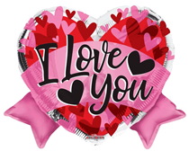 """Valentine's I Love You Bow 18"""" Foil Balloon"""