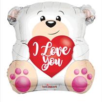 "Valentine's Love You Bear 18"" Foil Balloon"