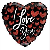 "Valentine's I Love You Hearts 18"" Foil Balloon"