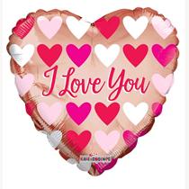 "Valentine's I Love You Rose Gold 18"" Foil Balloon"