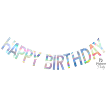 Happy Birthday Add An Age Iridescent Banner 2M