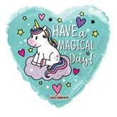 "Magical Day Unicorn 18"" Heart Foil Balloon"