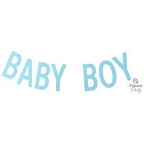 Baby Boy Blue Letter Banner 2M