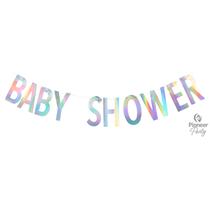 Baby Shower Iridescent Banner 2M