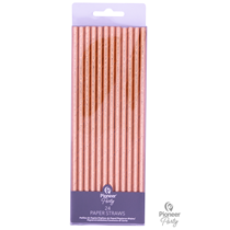 Rose Gold Paper Straws 24pk