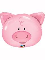 "Playful Pig 30"" SuperShape Foil Balloon"