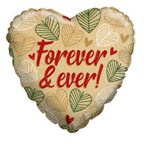 """ECO ONE - Forever & Ever Leaves 18"""" Foil Balloon"""