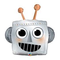 "Metallic Robot Head 35"" Foil Balloon"