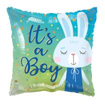 """ECO It's A Boy Bunny Rabbit 18"""" Foil Balloon"""