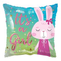 "ECO It's A Girl Bunny Rabbit 18"" Foil Balloon"