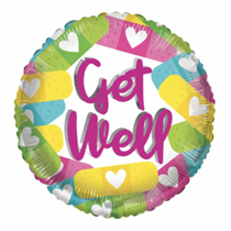 """ECO - Get Well Colourful Plasters 18"""" Foil Balloon"""