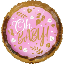 """Pink Oh Baby! 18"""" Foil Balloon"""