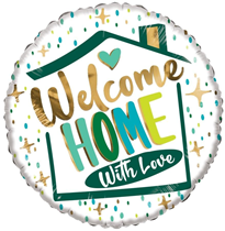 """Welcome Home With Love 18"""" Foil Balloon"""