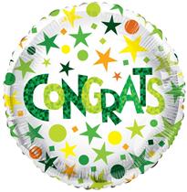 """ECO Green Congrats 18"""" Foil Balloon"""
