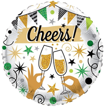 """ECO Cheers Glasses 18"""" Foil Balloon"""
